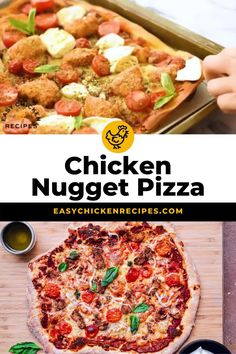 Your pizza night is about to get a makeover with this delicious crispy chicken pizza! Made from scratch, it's topped with fresh and tasty ingredients that's perfect for a family feast! #pizza #chickenpizza #pizzanight #familymeal Kid Friendly Chicken Recipes, Chicken Pizza Recipes, Italian Chicken Recipes, Kid Friendly Meals, Easy Weeknight Meals, Easy Meals, Pizza Recipe Video, Breakfast Recipes, Dinner Recipes