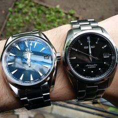 Easily my best watches: #seiko #sarb033 and #omega #seamaster #aquaterra / Мои лучшие часы вообще без вопросов by watch_the_hands #omega #seamaster #watchesformen