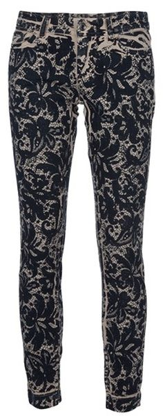 A girl can only dream  ....dolce & Gabbana Lace Print Jean