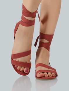 Shop Faux Suede Ankle Wrap Sandals MAUVE online. SheIn offers Faux Suede Ankle Wrap Sandals MAUVE & more to fit your fashionable needs.