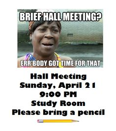 Hall Meeting flyer