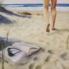 #BookNook Reading on the beach / Lectura en la playa (ilustración de Deborah Dewit)
