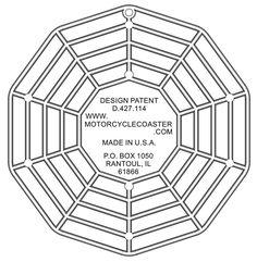 The Original Custom Imprinted Motorcycle Coaster® Custom Coasters, Digital Prints, Photo Galleries, Motorcycle, Plate, Letters, Color, Printed, Gallery