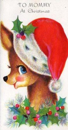 Christmas Card, Reindeer | eBay