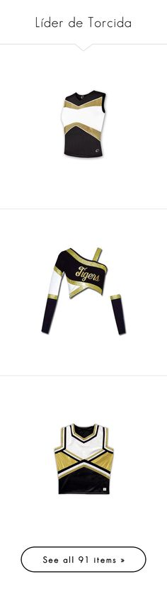 """""""Líder de Torcida"""" by juhncastro ❤ liked on Polyvore featuring cheerleading, sport, cheer, tops, sports, cheer uniforms, outerwear, jackets, vetements and metallic jacket"""
