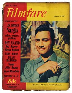 Actor Dev Anand on Filmfare Magazine Cover-1957 #Bollywood