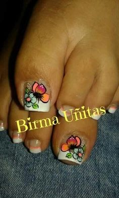 Summer Toe Designs, Fancy Nails Designs, Pedicure Designs, Toe Nail Designs, French Pedicure, Pedicure Nail Art, Toe Nail Art, Manicure, Cute Toe Nails