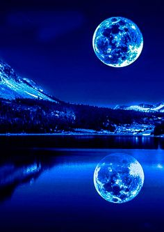 Photography Discover InspirationYou can find Blue moon and more on our website. Beautiful Nature Wallpaper, Beautiful Moon, Beautiful Landscapes, Night Sky Wallpaper, Wallpaper Space, Screen Wallpaper, Galaxy Theme, Galaxy Art, Planets Wallpaper