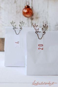 Liebesbotschaft: Kupfer in Weihnachtsstimmung: Adventskalender+Adventskranz+Adventsclutch!