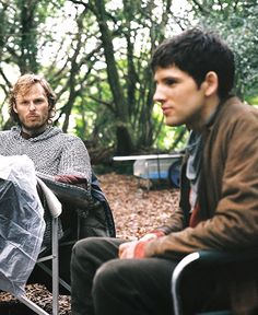 Behind the Scenes Rupert and Colin ~ Merlin
