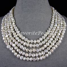 Ivory Pearl Necklace  100 Inches 78mm Genuine by FavoriteJewellery, $26.00