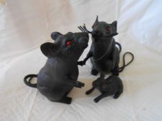 3 Black Rats 1 Motion 2-Sensing Squeaks With Any Movement Super Crazy Prank Prop #Unbranded #Halloween