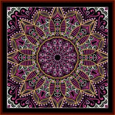 FR-507 - Fractal 507 - All cross stitch patterns - NEW - Abstract - Fractals - Graphic Art - Whimsical - Cross Stitch Collectibles
