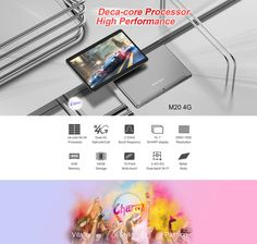 Original Box Teclast M20 MT6797D X23 Deca Core 4GB RAM 64GB Android 8.0 Dual 4G 10.1 Inch Tablet Memory Storage, Display Resolution, Computer Network, Multi Touch, 4gb Ram, Office And School Supplies, Laptop Accessories, Core, The Originals