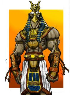 Horus - God of the Sun Sky War and Protection / Egyptian Mythology Osiris Tattoo, Anubis Tattoo, Anime Egyptian, Ancient Egyptian Art, Egyptian Mythology, Egyptian Goddess, Anubis And Horus, Egypt Concept Art, Arte Obscura