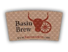 Basin Brew custom printed Java Jacket™ coffee sleeve.
