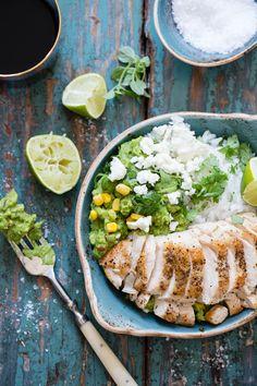 Kylling med ris og guacamole – Ida Gran-Jansen