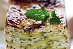 zucchini and goat cheese terrine with garlic and mint | Saveurs du Monde