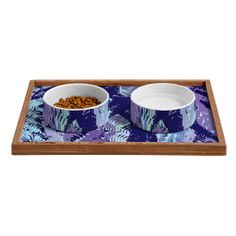 Rosie Brown Amethyst Ferns Pet Bowl and Tray | DENY Designs Home Accessories #art #petbowl #pettray #bowl #tray #dog #cat #denyholiday #denydesigns #sale