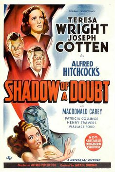 https://flic.kr/p/oC36SE | Shadow of a Doubt (1943/Universal Pictures) (Australia) | Poster artist is unknown.