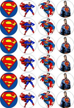 24 x 4.5cm SUPERMAN EDIBLE RICE/WAFER PAPER CUPCAKE TOPPERS | eBay