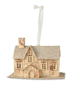 Paper & Platinum House Ornament