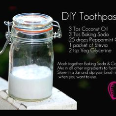 DIY toothpaste - From FB's Growing Organic Eating Organic