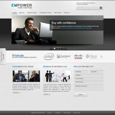 free corporate web template psd