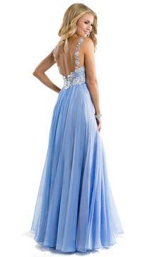 Cute floral lace bodice on this chiffon prom dress | Flirt #prom #dress #hautehippie #flowergirl