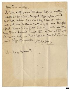 An emotional letter from Lord Horatio Nelson to his long-time mistress Lady Emma Hamilton is up for sale. The letter, which is dated circa 1801 Letters From Home, Love Letters, Hamilton, Alfred Nobel, Hms Victory, Lord, Story Of The World, Women In History, Mistress