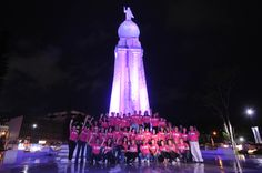 San Salvador City, El Salvador: One of the most recognizable and iconic El Salvador Monuments is the Monumento al Divino Salvador del Mundo (Monument to the Savior of the World) which was lit up in pink on October 11th, to commemorate the first International Day of the Girl and the launch of Plan's Because I am a Girl campaign.