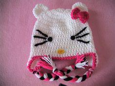Πλεκτο Σκουφακι Hello Kitty (μερος 1ο) / Hello Kitty Crochet Hat Tutoria...