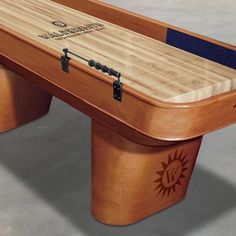 With its pedestal-style legs The Halifax shuffleboard brings a whole new look to our range Air Hockey, White Gloves, Pedestal, Game Room, Bobs, Tables, Range, Furniture, Home Decor