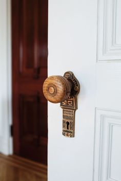 Carved door hardware