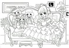 Dolly Friends / Coloring Pages Adult