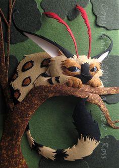 Creature in the Trees #3 - amazing paper sculptures