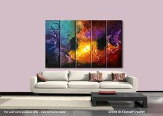 Modern Abstract Painting Colorful Original Artwork by OsnatFineArt