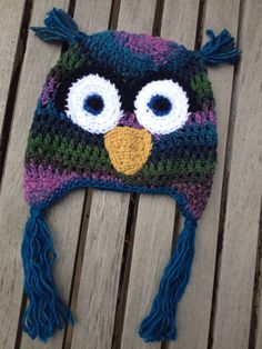 Crochet Owl Hat by CubCreekBoutique on Etsy, $22.00