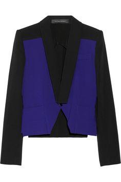 Roland Mouret|Manado two-tone crepe jacket |NET-A-PORTER.COM