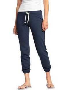 Women's Cropped-Cuff Drawstring Lounge Pants | Old Navy...These are great for casual days when only comfort matters!