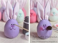 Funny Easter Bunny Eggs – a free tutorial on the topic: Toys ✓DIY ✓Steps-By-Step ✓With photos Funny Easter Bunny, Easter Bunny Eggs, Felt Crafts, Easter Crafts, Diy Sewing Projects, Craft Projects, Diy For Kids, Crafts For Kids, Easter Drawings