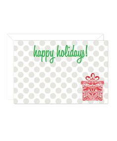 Take a look at this Polka Dot Enclosure Card & Envelope Set by Ann Page on #zulily today!