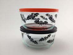Halloween Pyrex found at Target, October 2012. Also one with pumpkins on it. Waited too long and missed out.