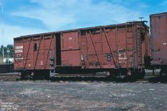 501655 Car No: 501655 Builder: CC Type: Boxcar Built Date: Location: South Parry, ON Date: April 1987 Photographer: Don Jaworski Canadian National Railway, Canadian Pacific Railway, Ho Trains, Model Trains, Railroad History, Canadian Models, Rail Car, Train Pictures, Rolling Stock