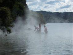 Swim in Volcanic Hot springs of New Zealand.  Lake Rotorua 2007 - check