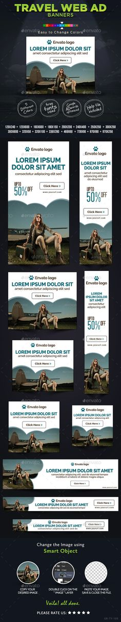 Travel & Tourism Web Banner Design Template PSD | Buy and Download: http://graphicriver.net/item/travel-tourism-web-banner-design/8923922?WT.ac=category_thumb&WT.z_author=doto&ref=ksioks