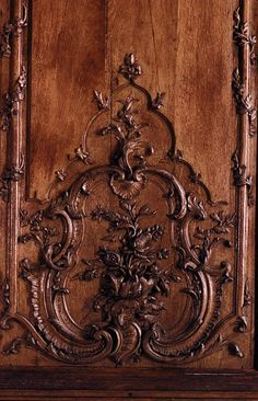 FCBTC / Rococo detailed carving. Boiserie panel