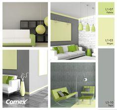 Colores sutiles pero con gran impacto para tu decoración. ¡Renueva tus espacios con un poco de color!   #deocracion #comex #hogar