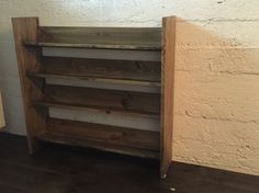 CD shelf, made from pine glulam and waxed with Osmo Color floor wax. It holds approx. 280 cd's
