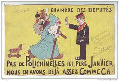 CPA  Père  Janvier Noêl Politique Polichinelle - Santa Claus